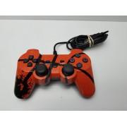 Mando Compatible PS3 Naranja Cableado