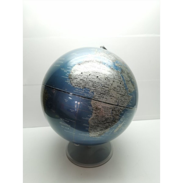 Globo Terraqueo Azul Sin Iluminacion