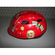 Casco Bicicleta Infantil Space Planet Rojo