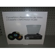 Convertidor reproductor de Vinilos y Cassette A Mp3 Prixton Vc200