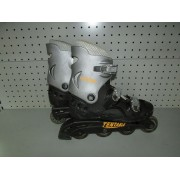 Patines Linea California Tentable T 43 Negro y Gris