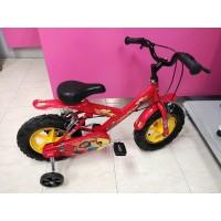 Bicicleta Infantil Cars con Ruedines