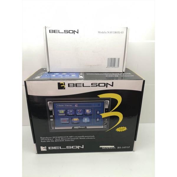 RadioDVD Doble Din USB Bluetooth + Modulo GPS Belson BS-16510 Nuevo