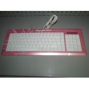 Teclado USB HAMA Rosa