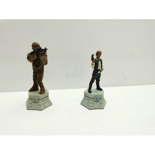 Piezas Ajedrez Star Wars Han Solo y Chewaca