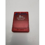 Memory Card PS 2 Oficial 8mb roja