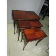 Juego de 3 Mesas Diferentes Tamaños Vintage