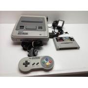 Consola Super Nintendo 16 Bits Completa con Juego