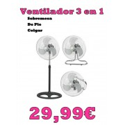 Ventilador Industrial 3en1 55w Nuevo -6-