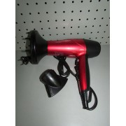 Secador de pelo con rizador Carrera 9221002 rojo y negro nuevo