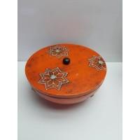 Cajita Decorativa Naranja Con tapa