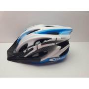 Casco Ciclismo GES Azul y Blanco Nuevo