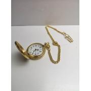 Reloj De Bolsillo Nuevo Dorado