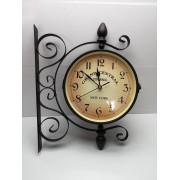 Reloj de Pared Doble de Forja New York