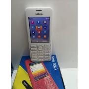 Movil Sencillo Nokia 206 Blanco Orange
