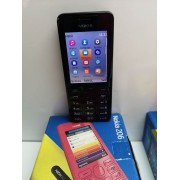 Movil Sencillo Nokia 206 Negro Orange