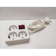 Regleta Electrica 3 Enchufes 1,5M