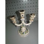 Candelabro de Ceramica Vintage Floreado