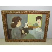 Cuadro Señora Reflejada en Espejo