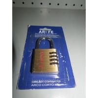 Candado Ar Fe Arco Corto Combinacion 40mm  -2-