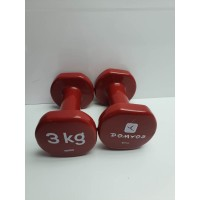 Pareja Pesas Domyos 3KG Proteccion Plastico -2-