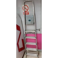 Escalera Alta 6 Peldaños Aluminio