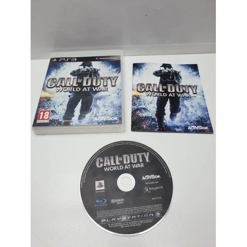 Juego PS3 Completo Call of Duty World at War