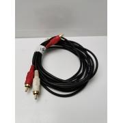 Cable Audio Rojo / Blanco 1,5M