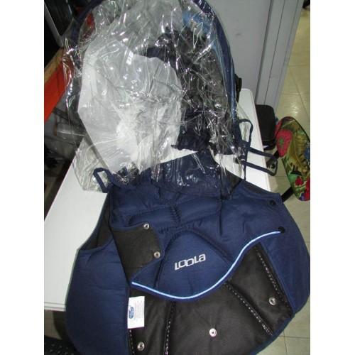 capucha y funda silleta confort Loola azul marino y azul claro
