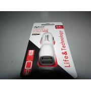 Cargador Mechero USB Blanco Nuevo