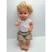 Muñeco Nenuco Famosa Vestido Camiseta Blanca Vintage