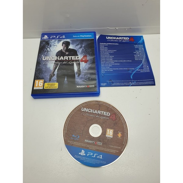 Juego PS4 Uncharted 4 Completo