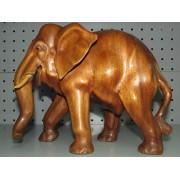 Figura Ceramica Elefante Madera Maciza