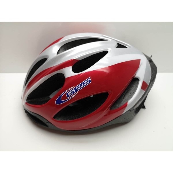 Casco Ciclismo GES Rojo Blanco