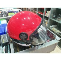 Casco de Moto Tipo JET Rojo T-M Seminuevo