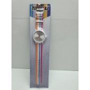 Reloj Analogico Time 2U Blanco Rosa Nuevo